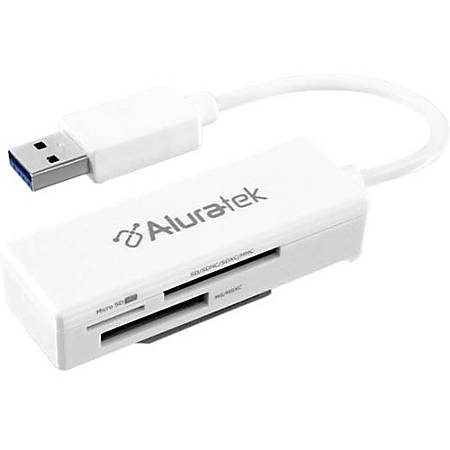 Aluratek AUCR300F Flash Reader - SD, microSD, miniSD - USB 3.0External