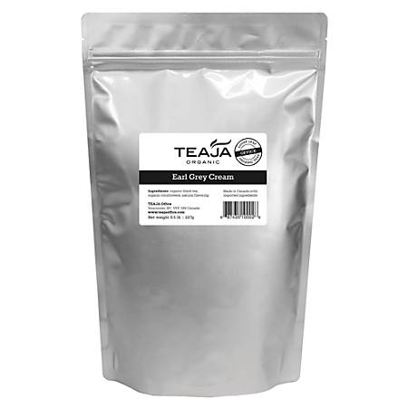 Teaja Organic Loose-Leaf Tea, Earl Grey Cream, 8 Oz Bag