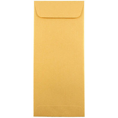 "JAM Paper® Policy Envelopes, #10, 4 1/8"" x 9 1/2"", Gold Stardream Metallic, Pack Of 25"