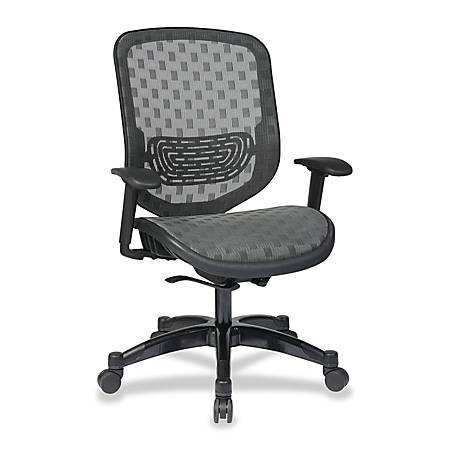 "Office Star™ Space 829 Series DuraGrid Seat/Back Chair, 45""H x 27 1/2""W x 24 1/4""D, Charcoal/Gunmetal"