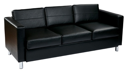 Office Star Avenue Six Pacific Sofa Blacksilver By Depot Officemax