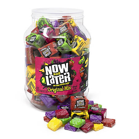 Now & Later Mini Bars, 60 Oz Jar, Assorted Flavors