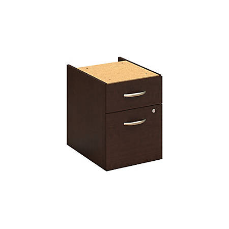 Bush Business Furniture Components 2 Drawer 3/4 Pedestal, Mocha Cherry, Standard Delivery
