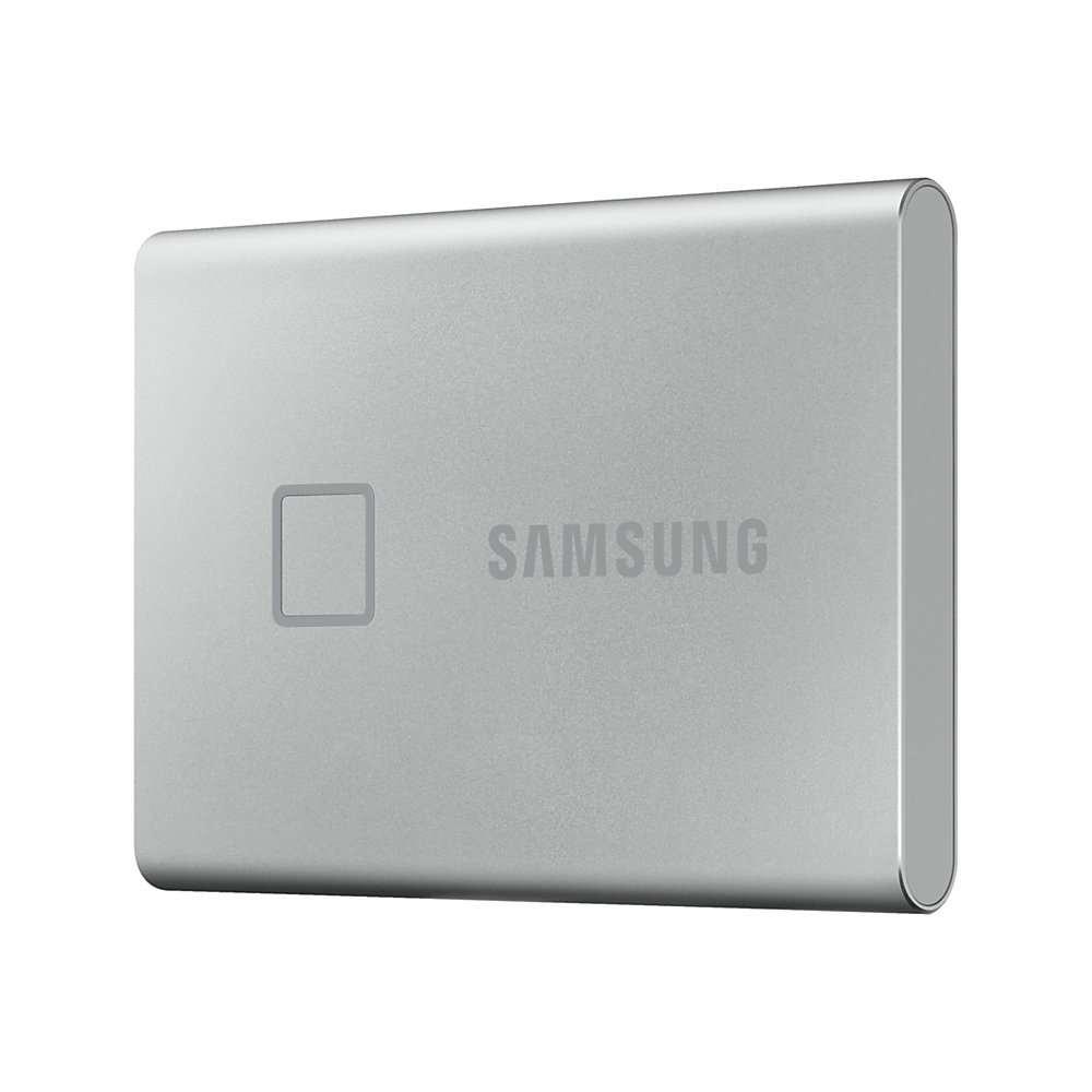 Samsung Portable SSD T7 Touch MU-PC2T0S - Solid state drive - encrypted - 2 TB - external (portable) - USB 3.2 Gen 2 (USB-C connector) - 256-bit AES -