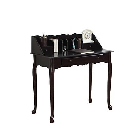 Monarch Specialties Wood Secretary Desk, Dark Cherry