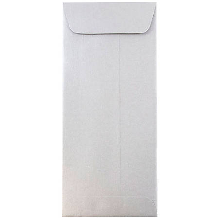 """JAM Paper® Policy Envelopes, #10, 4 1/8"""" x 9 1/2"""", Silver Stardream Metallic, Pack Of 25"""