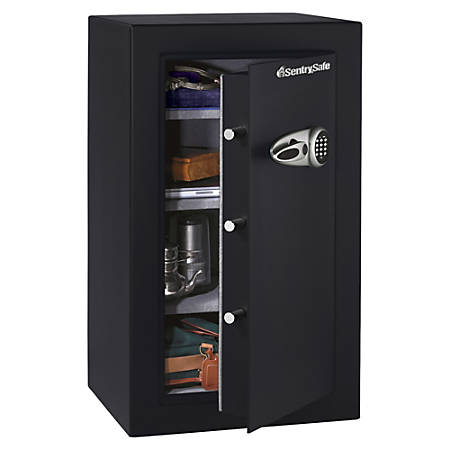 Sentry®Safe Executive Security Safe With Electronic Lock, 6.10 Cu Ft, Black/Steel