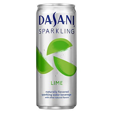 Dasani® Sparkling Water, 12 Oz, Lime, Case Of 24