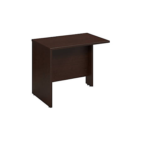 "Bush Business Furniture Components Return Bridge, 36""W, Mocha Cherry, Premium Installation"