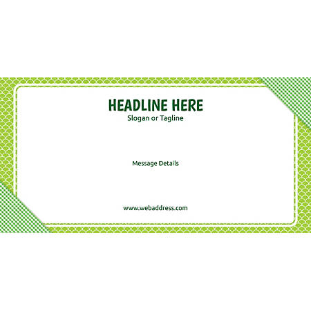 Custom Horizontal Banner, Green Checks