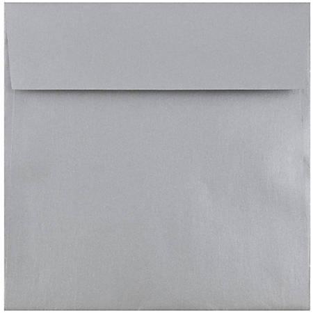 "JAM Paper® Square Stardream Metallic Envelopes, 6 1/2"" x 6 1/2"", Silver, Pack Of 25"