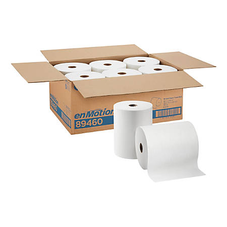 """enMotion® by GP PRO Paper Towel Rolls, 10"""" x 800', White, Pack Of 6 Rolls"""