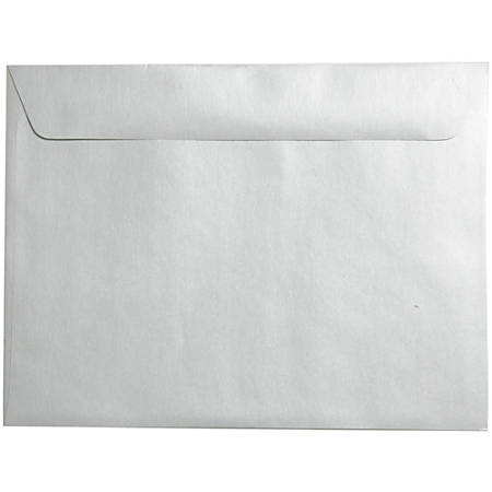 """JAM Paper® Booklet Envelopes With Gummed Closure, 9"""" x 12"""", Stardream Silver Metallic, Pack Of 25"""