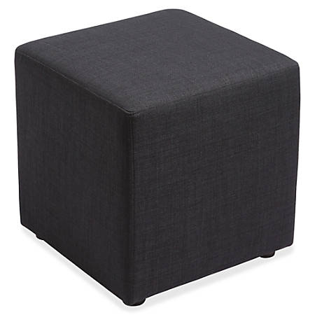 Lorell® Collaborative Seating Fabric Cube Chair, Black