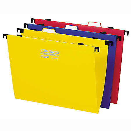 Pendaflex® 2-In-1 Poly Hanging Folders, Letter Size, 1/3 Cut, Assorted Colors, Pack Of 10