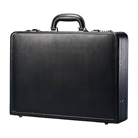 "Samsonite® Bonded Leather Attach? Case, 13""H x 17.9""W x 4 1/4""D, Black"