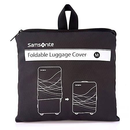"Samsonite® Foldable Luggage Cover, 7 7/8""H x 7 1/8""W x 1 9/16""D, Black"