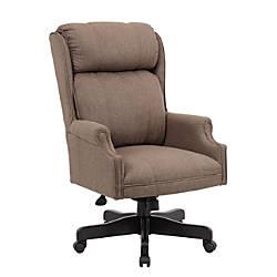Boss Linen High Back Chair Dark