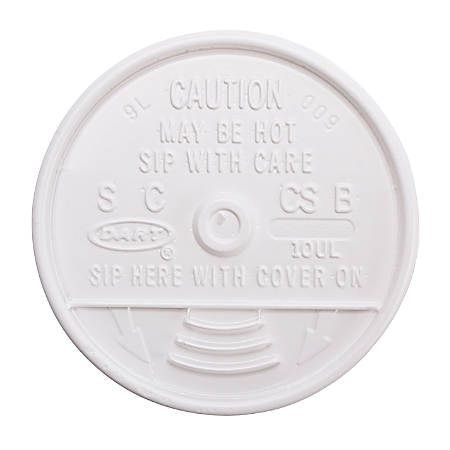 Dart Sip Thru Lid - Dome - 1000 / Carton - White