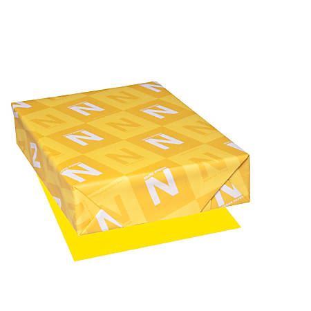 """Astrobrights® Color Paper, 8 1/2"""" x 11"""", FSC® Certified, Solar Yellow, Pack of 500 Sheets"""