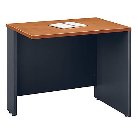 "Bush Business Furniture Components Return Bridge, 36""W, Natural Cherry/Graphite Gray, Standard Delivery"