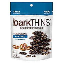 barkTHINS Dark Chocolate Pretzels With Sea