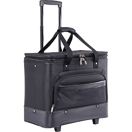 "Swiss Mobility Business Case Carrying Case (Roller) for 17.3"" Notebook - Black - Bump Resistant, Scratch Resistant - Telescoping Handle, Handle - 19"" Height x 11"" Width x 16"" Depth"