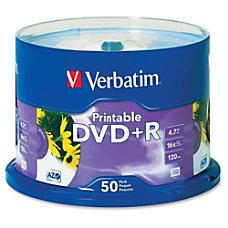 Verbatim 95136 Inkjet Printable DVDR Disc