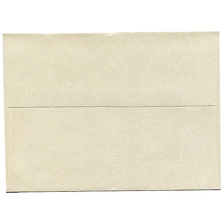"JAM Paper® Booklet Invitation Envelopes, A7, 5 1/4"" x 7 1/4"", Stardream Metallic Opal, Pack Of 25"