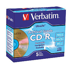 Verbatim UltraLife Gold CD R Discs