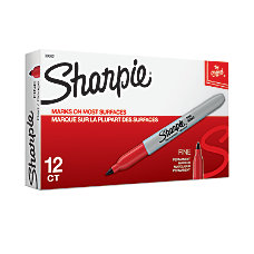 Sharpie Permanent Fine Point Markers Red