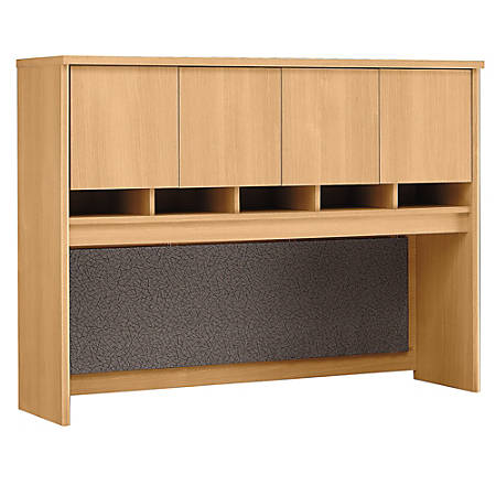 "Bush Business Furniture Components Hutch 60""W, Light Oak, Premium Installation"