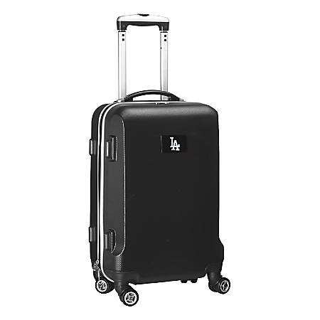 "Denco 2-In-1 Hard Case Rolling Carry-On Luggage, 21""H x 13""W x 9""D, Los Angeles Dodgers, Black"