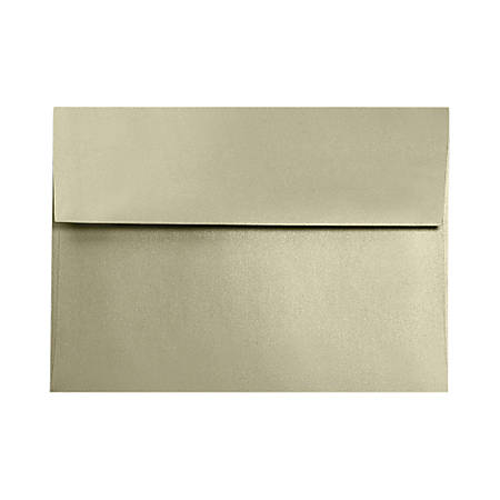 """LUX Invitation Envelopes With Moisture Closure, A9, 5 3/4"""" x 8 3/4"""", Silversand, Pack Of 500"""