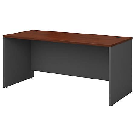 Awe Inspiring Bush Business Furniture Components Office Desk 66W X 30D Hansen Cherry Graphite Gray Standard Delivery Item 203576 Download Free Architecture Designs Scobabritishbridgeorg