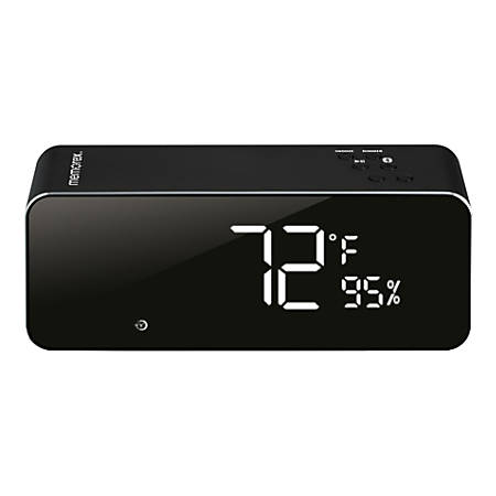 "Memorex® Wireless Digital Clock Radio, 2-11/16""H x 2-1/16""W x 6-7/8""D, Black"