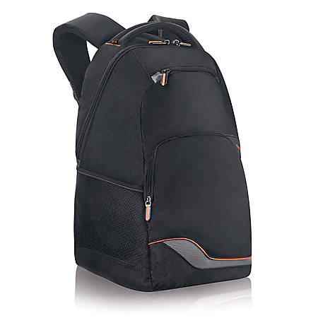 """Solo® Zippered Front Backpack For 16"""" Laptops, Black"""