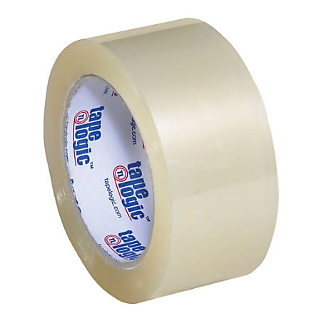"""Tape Logic® Acrylic Tape, 3"""" Core, 2"""" x 110 Yd., Clear, Case Of 6"""