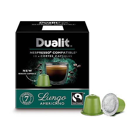 dualit and nespresso compatible coffee nx capsules longo espresso 7 oz pack of 60 by office. Black Bedroom Furniture Sets. Home Design Ideas