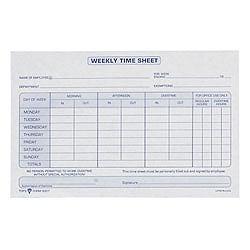 tops weekly timesheet form 5 5 x 8 5 whiteblue 100 sheets per pad 2
