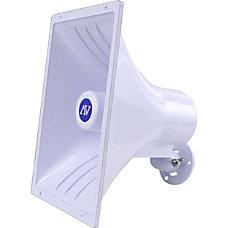 AmpliVox IndoorOutdoor Wall Mountable Speaker White