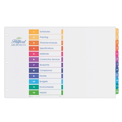avery ready index table of contents dividers 11 x 17 30percent