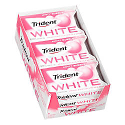 Trident White Minty Bubble Sugar Free