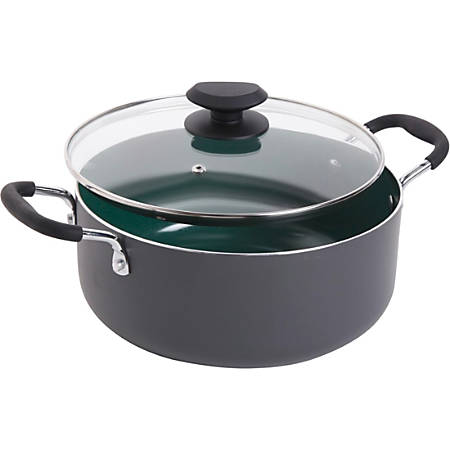 Gibson Home Eco-Friendly Dutch Oven - 5 quart Dutch Oven, Lid - Ceramic, Glass Lid