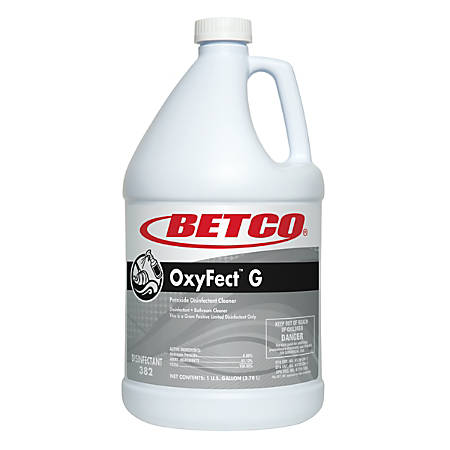 Betco® Oxyfect™ G Cleaner, Mint Scent, 128 Oz, Clear, Case of 4 bottles