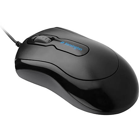 Kensington Mouse-In-A-Box Corded USB Mouse - Optical - Cable - Black - USB - Scroll Wheel - Symmetrical
