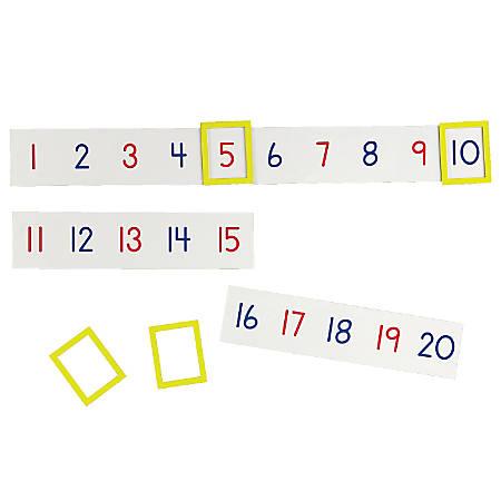"Learning Resources® Magnetic Number Line Set, 2 1/4"" x 9 1/2"", Multicolor, Pre-K - Grade 2"