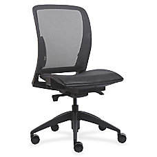 Lorell Mesh Armless Mid Back Chair
