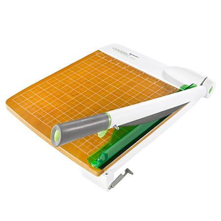 "Westcott® CarboTitanium Guillotine Heavy-Duty Trimmer, 12"", White/Green"