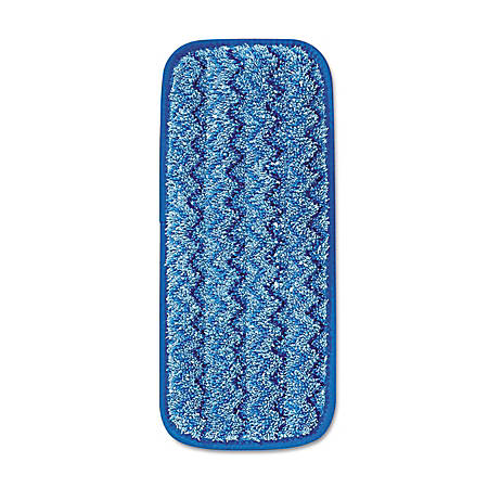 Rubbermaid® Microfiber Wall/Stair Wet Mopping Pads, Blue, Pack Of 6 Pads